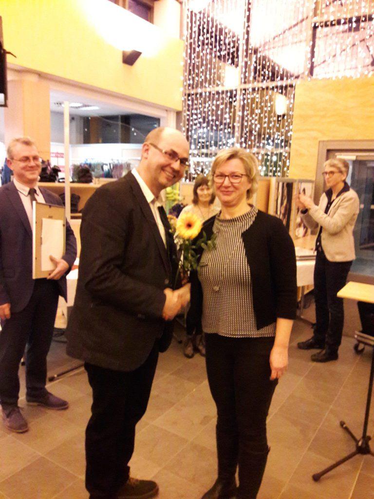 Bürgermeister Leisegang und Heike Köpping