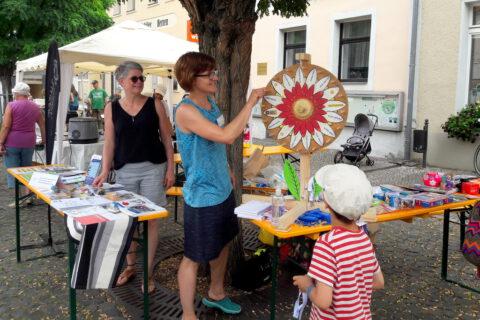 Infostand beim Bürgerfest in Bad Belzig